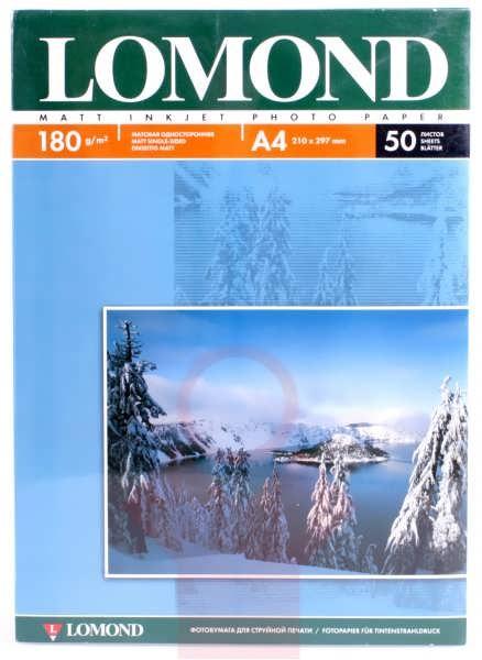 Фотобумага А4 Lomond, 180 г/кв.м, 1 ст., матовая,50л