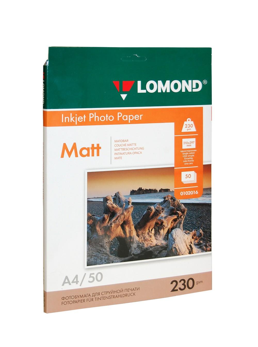 Фотобумага А4 Lomond, 230 г/кв.м, 1 ст., матовая, 50л