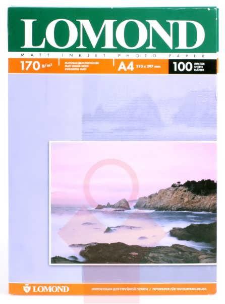 Фотобумага А4 Lomond, 170 г/кв.м, 2 ст., матовая,100л