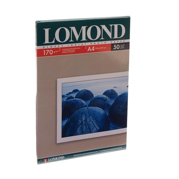Фотобумага А4 Lomond, 170 г/кв.м,глянец,50л