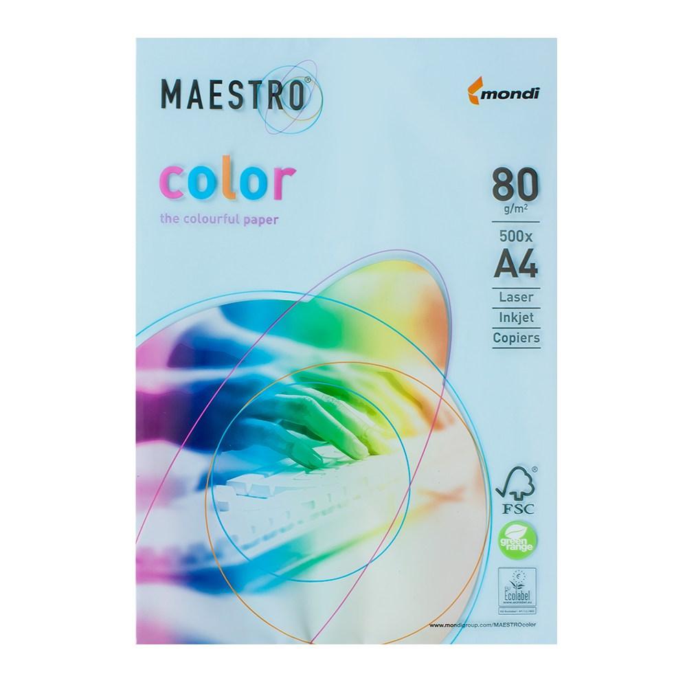 Бумага А4 Maestro Color МВ30 голубой