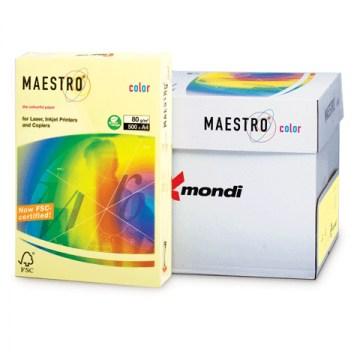 Бумага A3 Maestro Color YE23 светло-желтый