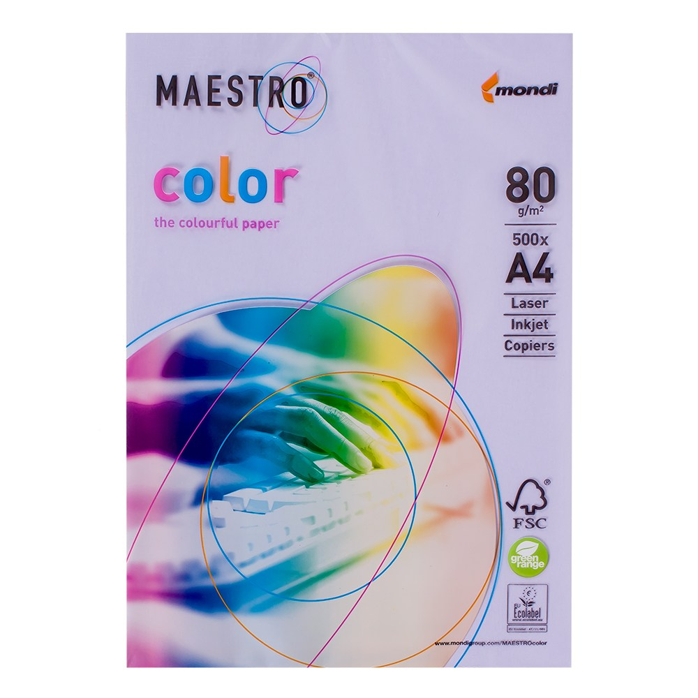 Бумага А4 Maestro Color LA12 Lavender (лиловый)