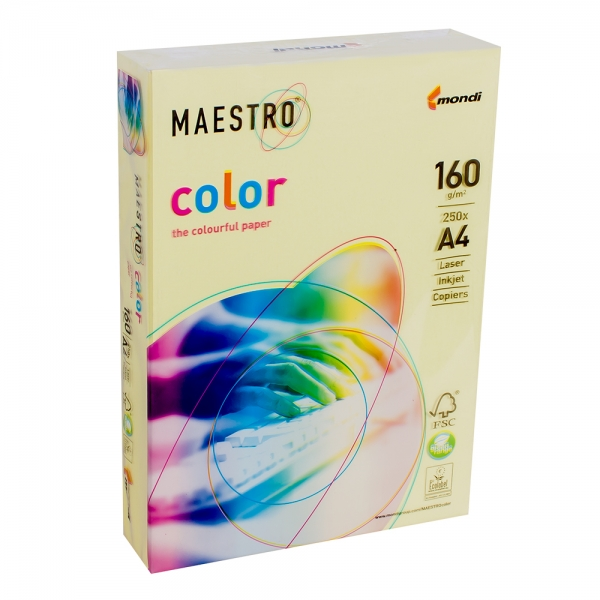 Бумага А4 Maestro Color ZG34 Lemon Yellow желтый