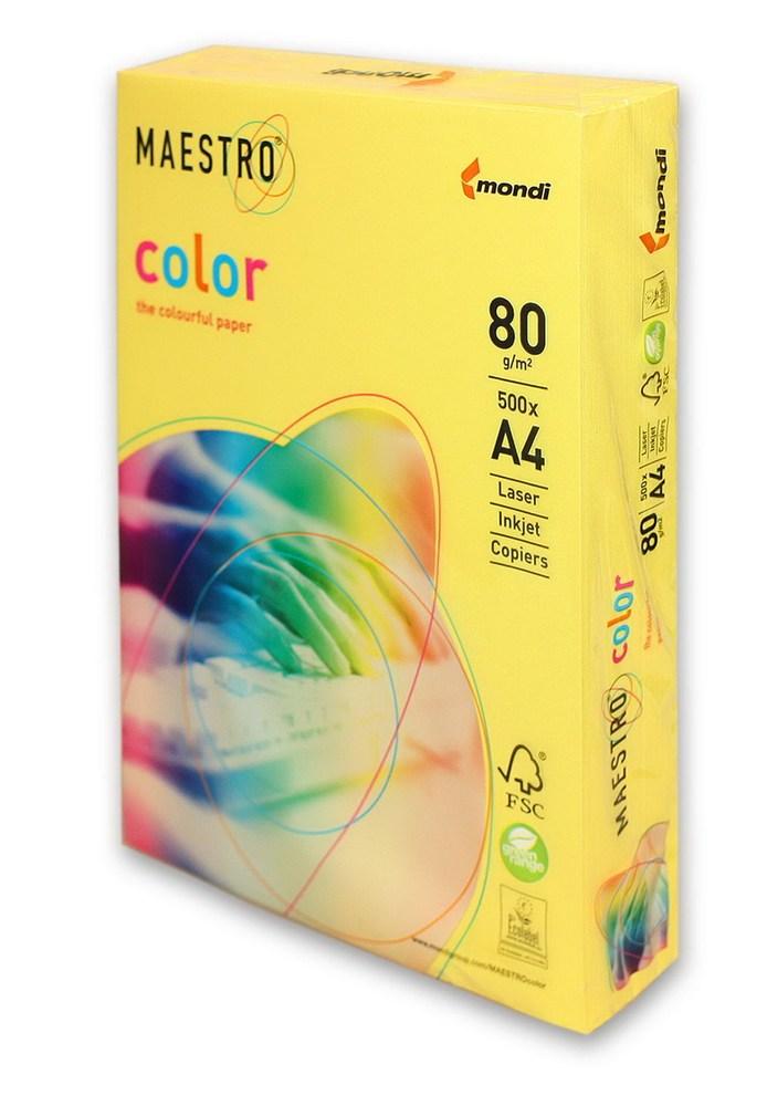 Бумага А4 Maestro Color CY39 желтый