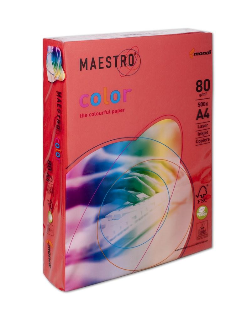 Бумага А4 Maestro Color СО44 кораллово-красный