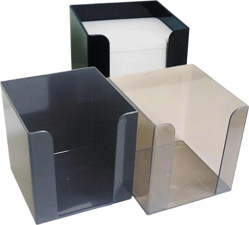 Блок-куб, прозрачный пластиковый бокс 90*90*90 с бумагой 1000л