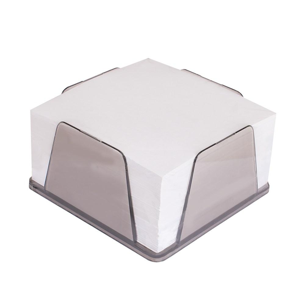 Блок-куб пластиковый бокс  90*90*45 с бумагой 500л