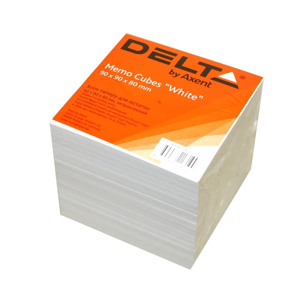 Бумага для заметок белый 90х90х80мм, непроклеенный