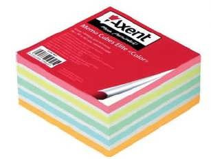 Бумага для заметок Elite Color 90x90x40мм, проклеенный