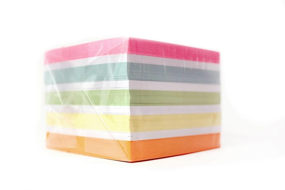 Бумага для заметок Elite Color 90x90x70мм, непроклеенный