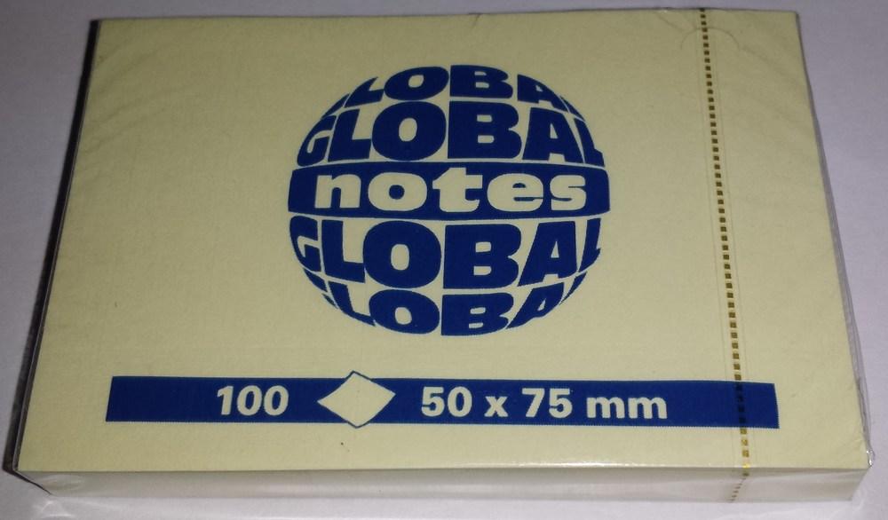 Блок клейкий GN  50*75 100 л. желтый, art. 3656-01