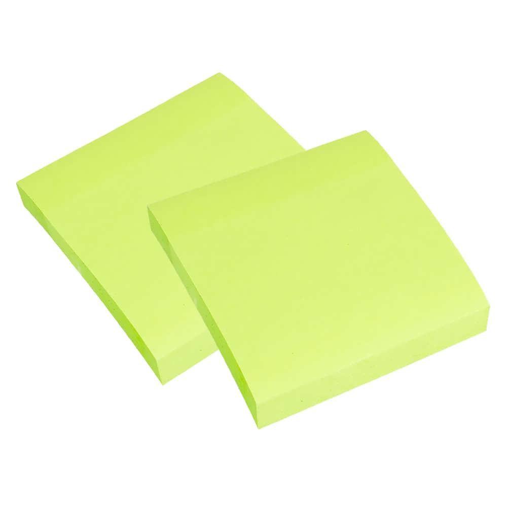 Блок клейкий  75*75 100 л, зеленый неон