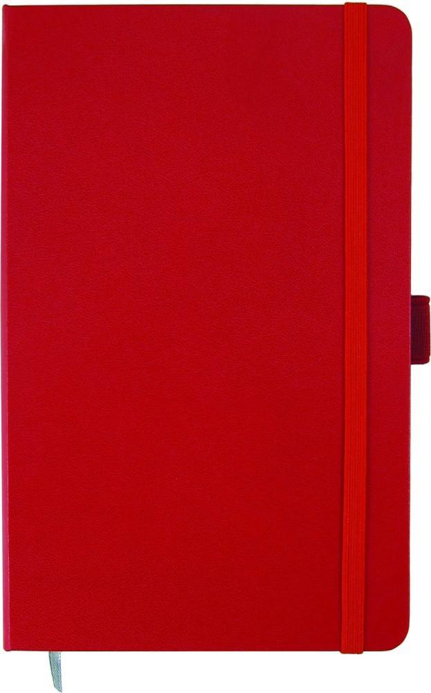 Записная книжка Partner,  А5, 125*195, 96 лист , клет, красная