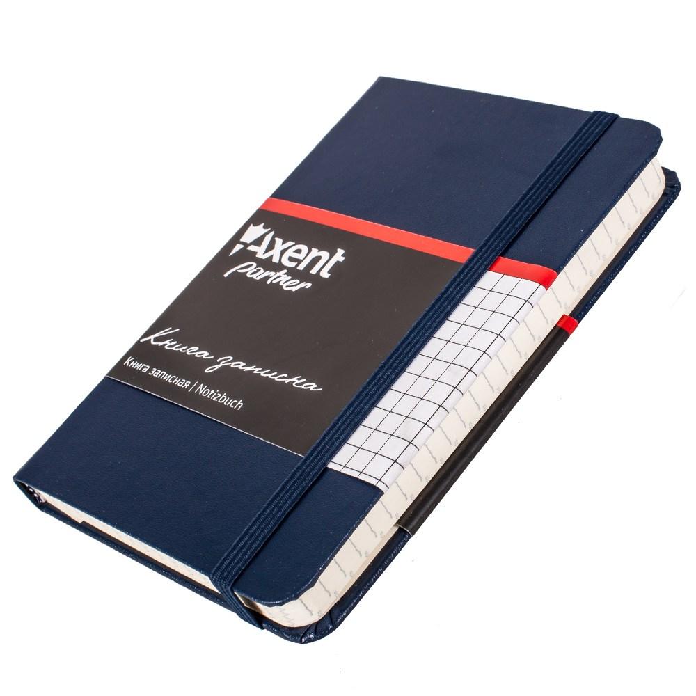 Записная книжка Partner,  95*140, 96 лист , клет, синяя