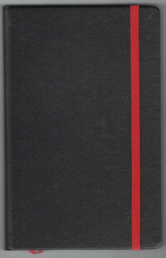 Записная книжка А5 (130х202), 128 стр.,белый блок, линия, баладек черный , на резинке