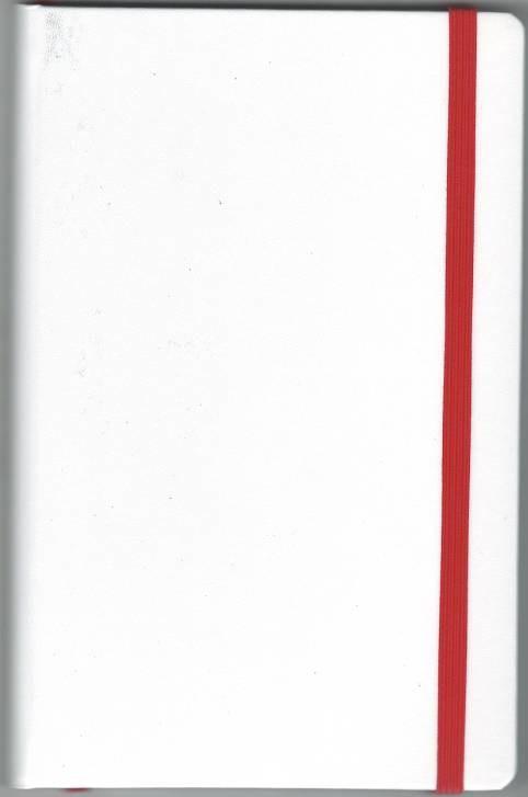 Записная книжка А5 (130х202), 128 стр.,белый блок, линия, баладек белый , на резинке