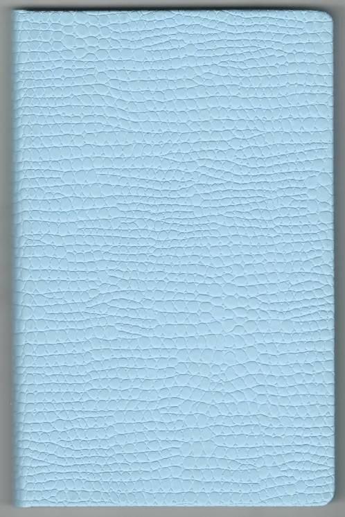 Записная книжка А5 (130х202), 128 арк,кремов.блок, клетка, обл. баладек Medusa голубой пастель