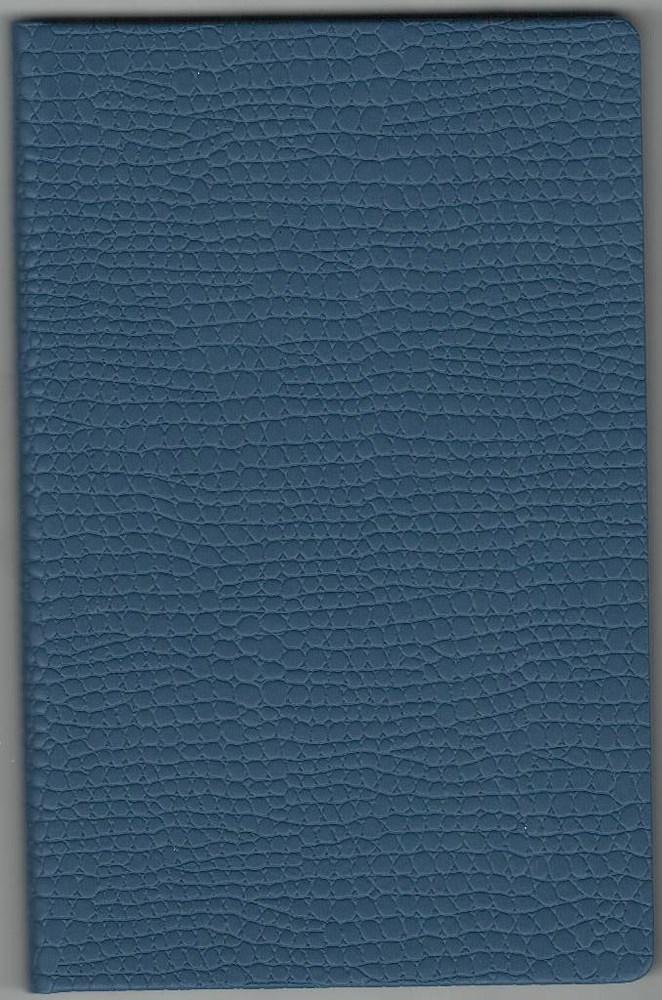 Записная книжка А5 (130х202), 128 арк, кремов.блок, клетка, обл. баладек Medusa синий