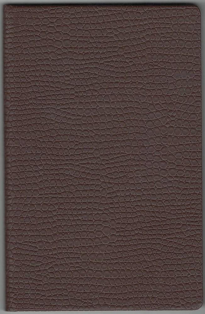 Записная книжка А5 (130х202), 128 арк, кремов.блок, клетка, обл. баладек Medusa коричневый