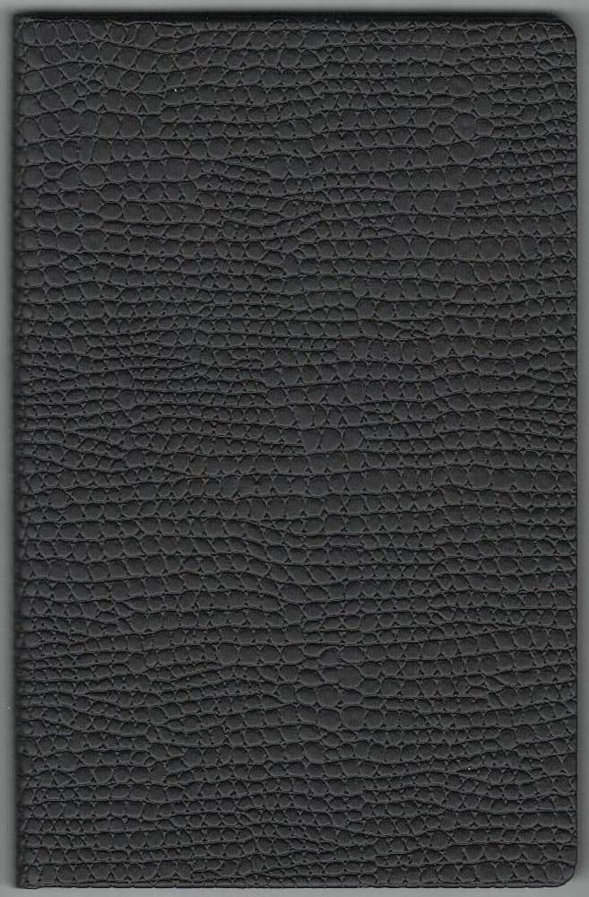 Записная книжка А5 (130х202), 128 арк, кремов.блок, клетка, обл. баладек Medusa черный