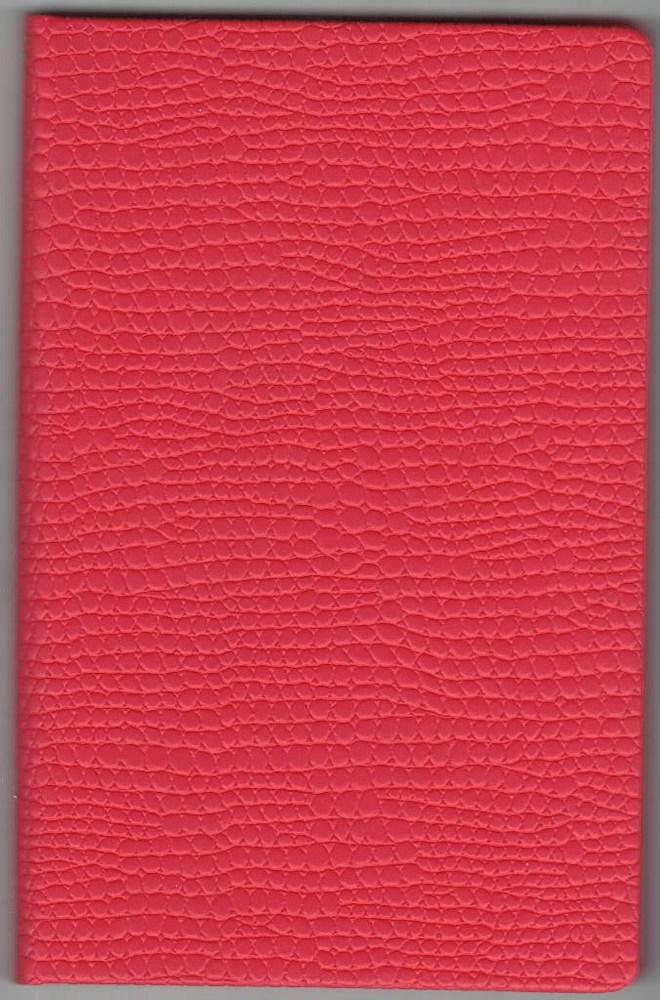 Записная книжка А5 (130х202), 128 арк, кремов.блок, клетка, обл. баладек Medusa красный