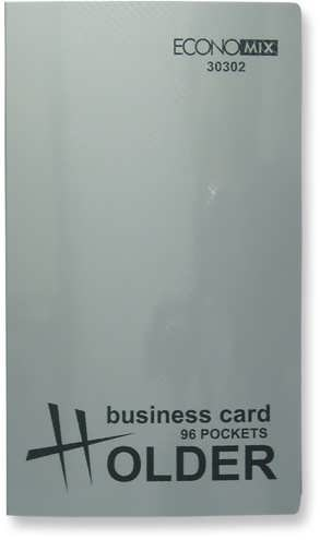 Визитница 3-х секц. на 72 визитки, пластик, металлик