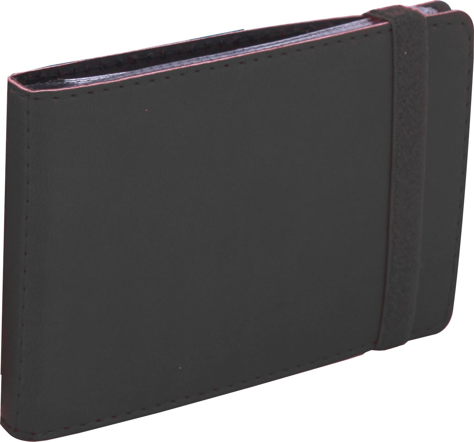 Визитница карманная на резинке, 20 визиток, Vivella, черная