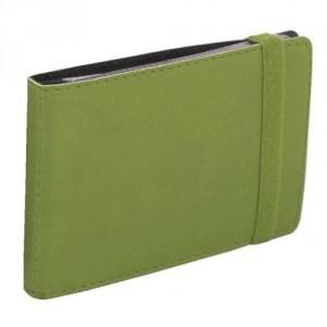 Визитница карманная на резинке, 20 визиток, Vivella, зеленая
