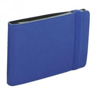 Визитница карманная на резинке, 20 визиток, Vivella, т.-синяя