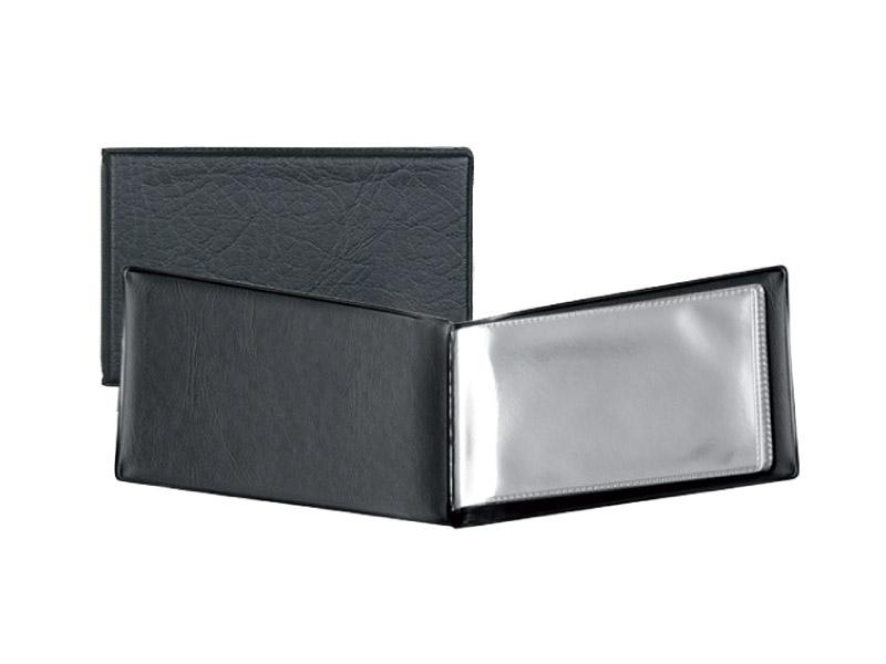 Визитница на 20 визиток, пластик, черная Axent
