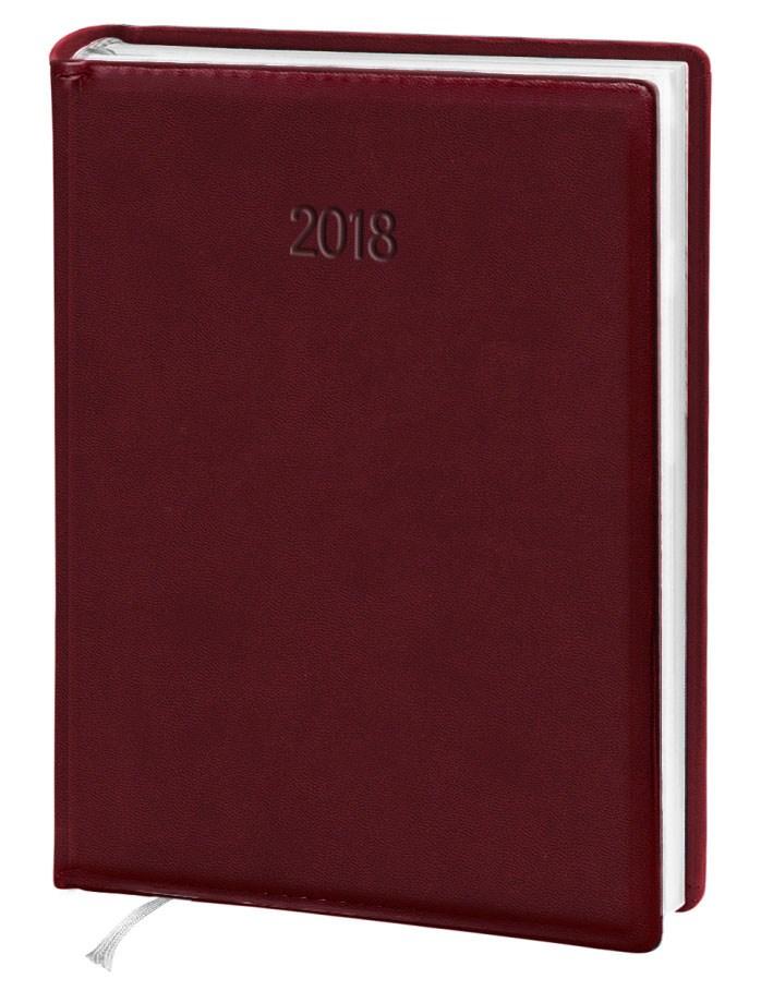 Ежедневник стандарт Vivella  кожзам бордовый 2018
