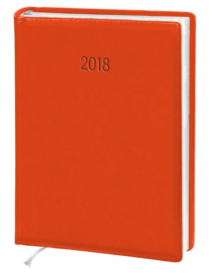 Ежедневник стандарт Vivella кожзам оранжевый 2018