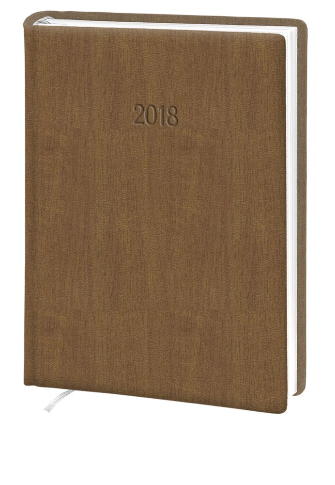 Ежедневник стандарт Acero кожзам коричневый 2018