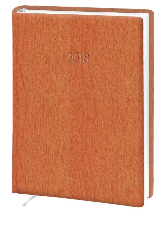 Ежедневник стандарт Acero кожзам оранжевый 2018