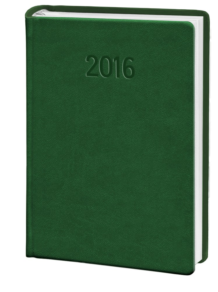 Ежедневник карманный 2018 Vivella  кожзам зеленый