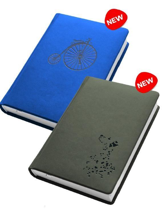 Деловой дневник недат. А6, 98*140, 146 л., клетка, иск. кожа, голубой, тиснение