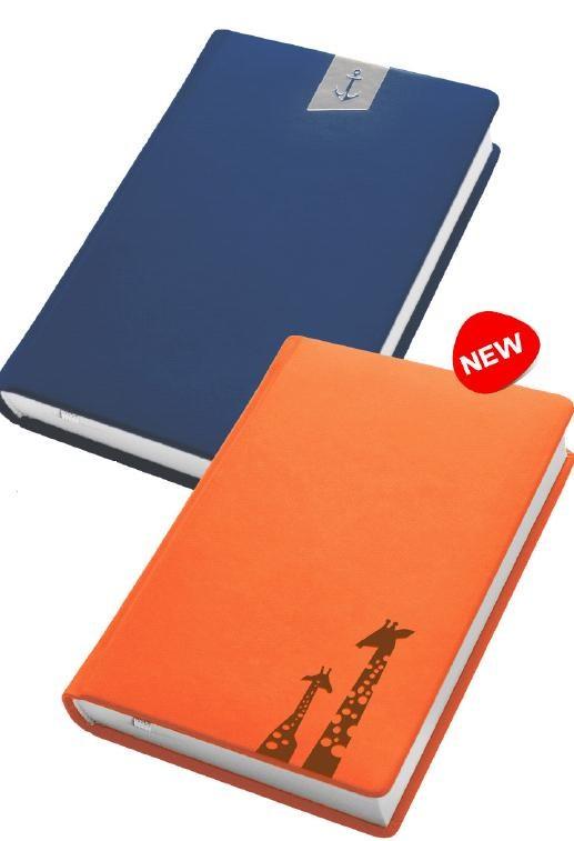 Деловой дневник недат. А6, 98*140, 146 л., клетка, иск. кожа, оранжевый, тиснение