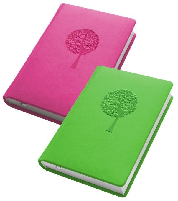 Деловой дневник недат. А6, 98*140, 146 л., клетка, иск. кожа, салатовый, тиснение