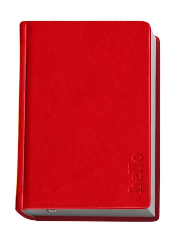 Деловой дневник недат. А6, 98*140, 146 л., клетка, иск. кожа, красный, тиснение