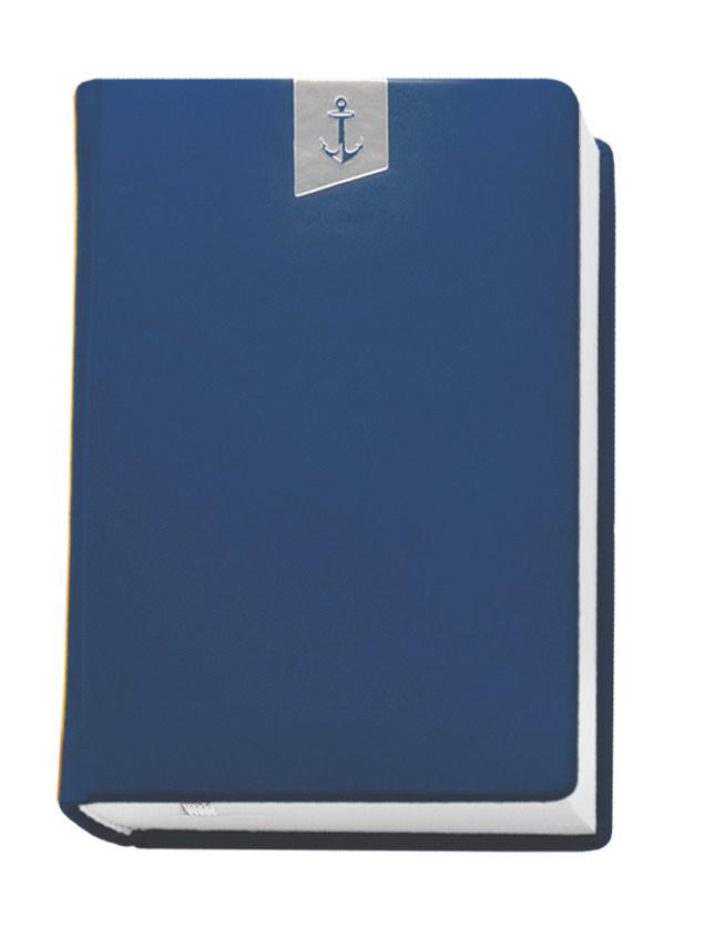 Деловой дневник недат. А6, 98*140, 146 л., клетка, иск. кожа, синий, тиснение