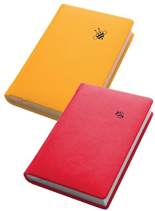 Деловой дневник недат. А6, 98*140, 146 л., линия, иск. кожа, желтый, тиснение пчела