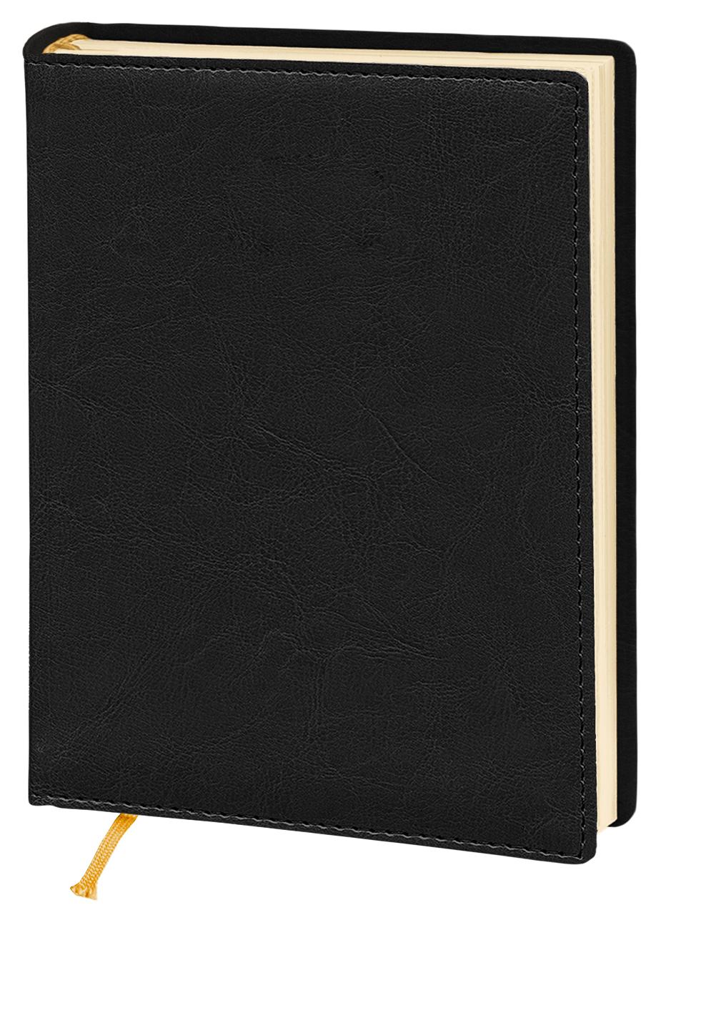Деловой дневник недатир. А5(143*202), 176л,линия,кремов,блок,исскуст.кожа,Nebraska,черный