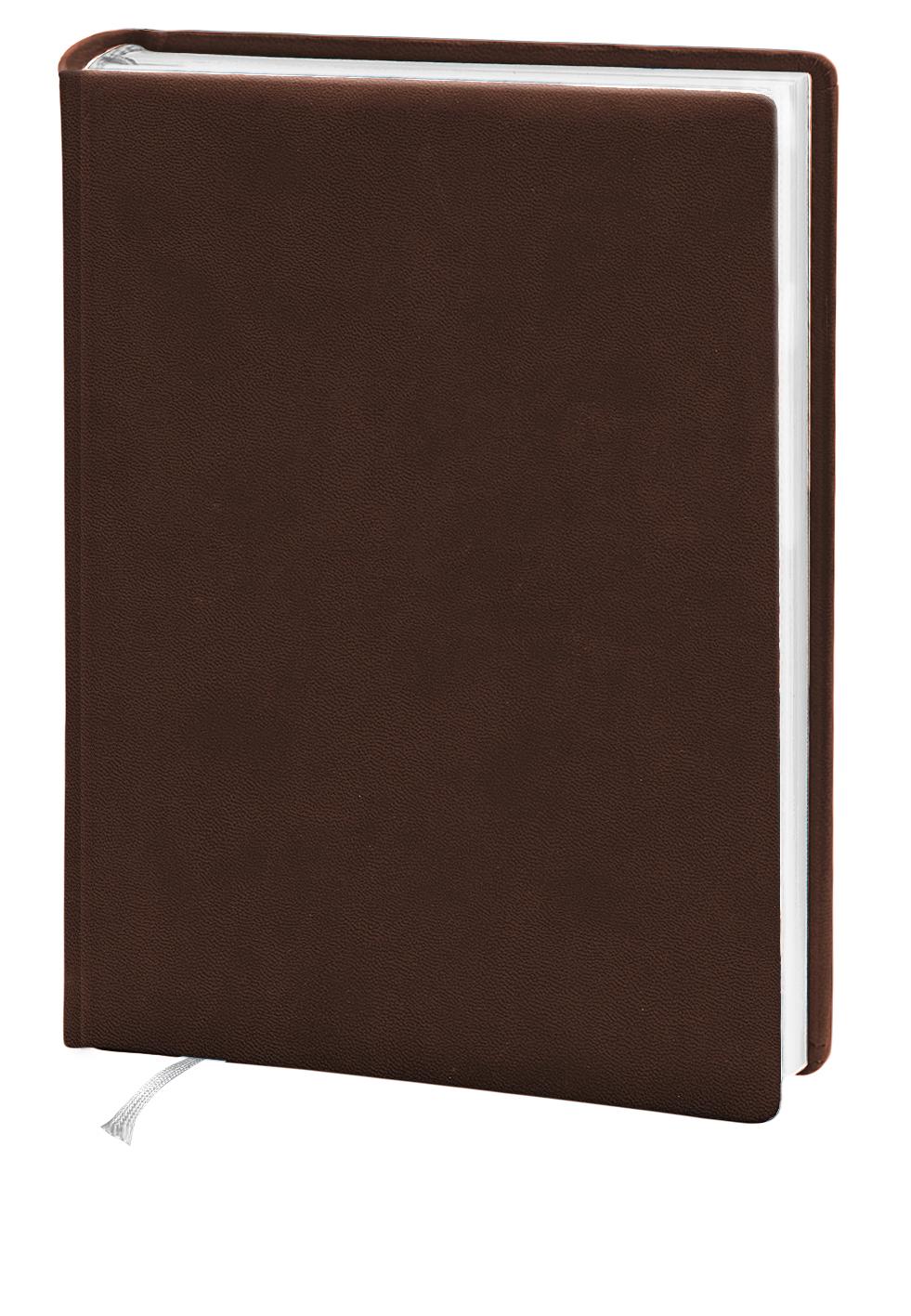 Деловой дневник 145*202, 176л, линия, искуст.кожа,коричневый