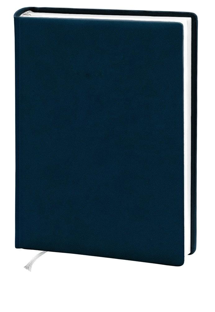 Деловой дневник 145*202, 176л, линия, искуст.кожа,,синий