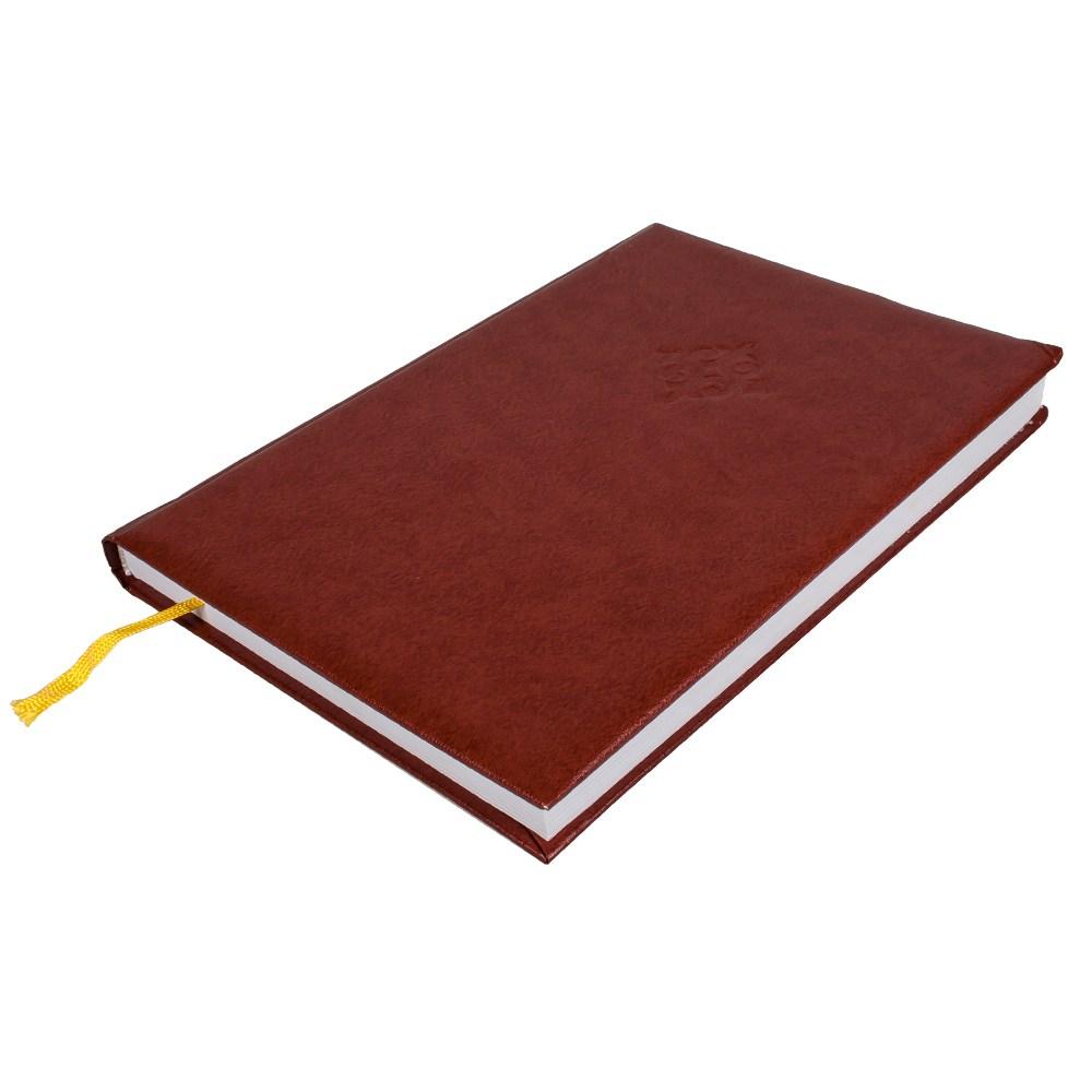 Деловой дневник, 145*202, 128 л.,клетка, баладек,коричневый
