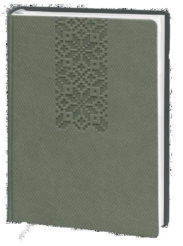 Деловой дневник недатир. В6 (115х160), 160л, линия, исскуст.кожа Twill, серый