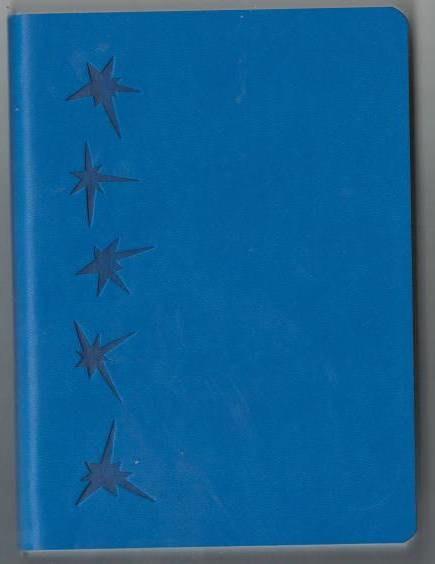 Деловой дневник недат. В6 (115х160), 160 стр., линия, обл. исскуст.кожа., голубой интегр. переплет