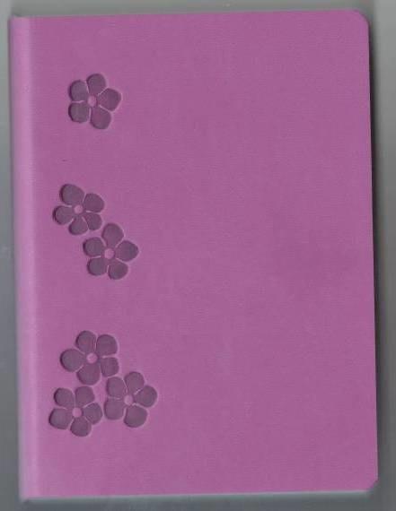 Деловой дневник недат. В6 (115х160), 160 стр., линия, обл. исскуст.кожа., розовый, интегр. переплет