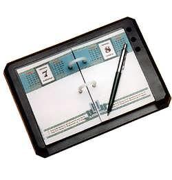 Подставка под календарь КИП, отделения для ручек, черная ПКУ-01